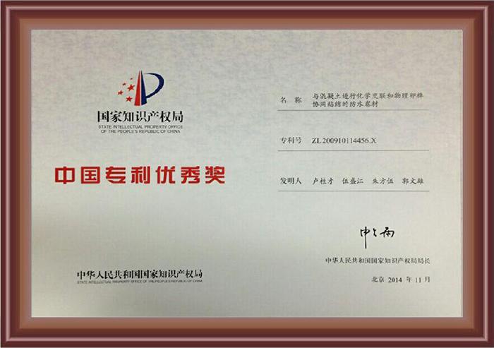 中国专利优秀奖-金雨伞